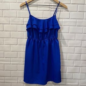 Forever 21 blue ruffle top dress